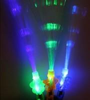 Shiny luminous stick fiber optic led electronic neon stick fiber optic flash light ktv bar supplies