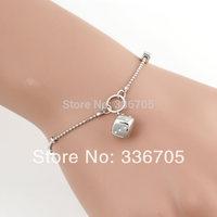 2014New Arrival Free Shipping 10pcs/lot Fashion 15mm Lady's Dice Pendant Bracelet25330#