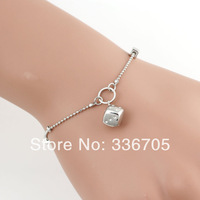 2014New Arrival Free Shipping 10pcs/lot Fashion 15mm Lady's Dice Pendant Bracelet25330#