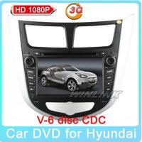 Free shipping! Car DVD for Hyundai Verna 2010 2011 2012 2013 2014 Solaris I25 Russian MEMU GPS Navigation radio bluetooth ATV