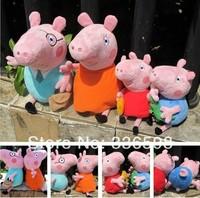 4PCS/SET Peppa Pig Toys New Baby Anime Toys Pepa Pig Peppa Pig Plush Family Set Doll Gift For Chilren Gilrs Boys