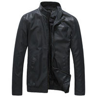 2014 Men's PU Leather Jackets Autumn/Winter Stand Collar Fashion Motorcycle Slim Coats size L /XL/XXL/XXXL
