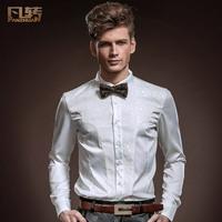 Royal men's clothing white terylene 2014 spring male shirt wedders long-sleeve formal dress shirt 14209