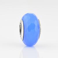 Authentic 925 Silver Core White Six Facted Murano Glass Beads, The Original Jewellers Hallmark JPF002-6