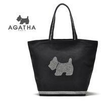 Fashion rhinestone totes paillette canvas bag casual shoulder bag portable women's handbag