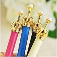 6 pcs/pack 2229 small ballpoint pen crown ballpoint pen
