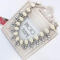 2014 Fashion Statement Necklace Bohemian Beige Beads Lady Bib Choker Jewelry Women Accessories Wholesale Free Shipping#105819