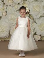 New Arrival Ankle Length Tulle Flower Girl Dresses 2013 Style