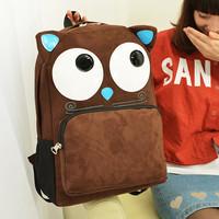 2014 printing backpack mochilas cartoon girls fashion little monster backpack women large casual school bag for teenage girls
