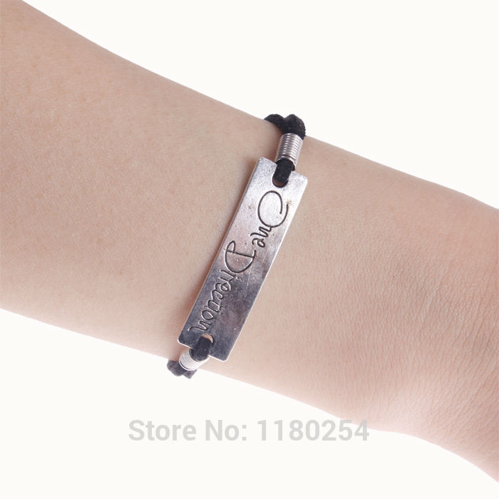 Wholesale Cheap Classic Handmade South Korea leather cord Bracelet , One direction & Bracelet,Men and women all appropriate(China (Mainland))