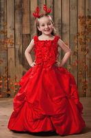 New Arrival Floor  Length Tulle Flower Girl Dresses 2013 Style