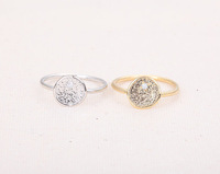 Free Shipping Mix Color Exquisite Simple Round Ring Silver Plated Antique Hammered Midi Rings