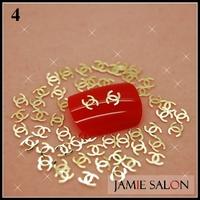 Gold Metal Art Nail Sticker Logo Nail Design Gold Nail Decal Metallic Tips 1000pcs/pack Free Shipping #4