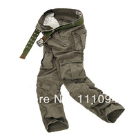 2014 mens pants washing overalls high quality men outdoor casual Cargo design trousers jeans straight work casual big size 28-40