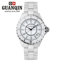 Cattle violin ladies watch fashion watch women's ceramic table rhinestone table white fashion table
