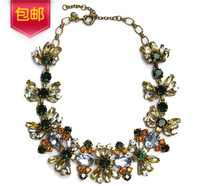 2014 European Famous Brand Shourouk Charms Vintage Colorful Butterfly Bee Necklaces for Women Prom Party Decorations