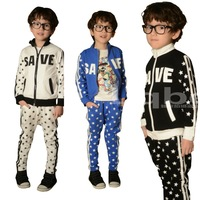 2014 New fashion spring Autumn children's clothing set Costumes sweatshirt star dance Hip Hop harem pants kids wear sport suits
