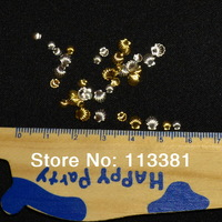 1 Pack 100pcs Mix 3mm 5mm Silver Gold Plated Mini Shell Metal Alloy Studs Spike Nail Art Acrylic Salon Craft Laptop Decoration