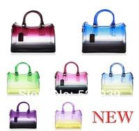 Bolsas de pvc gradually varied transparente femininas beach famous brand girls' silicone jelly candy-colored women's tote bags