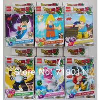 Free shipping Dragonball Block Figure 6pcs/set Dragon ball Action Figure Building Block Toys without Retail Box