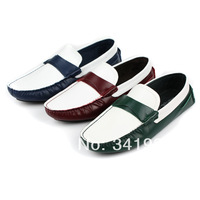 New Men's casual shoes Slip On Loafer Moccasins Driving Shoes genuine leather Eur size 37 to 44 Retail/wholesale Free shipping