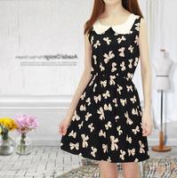 New 2014 Fashion women Summer casual Cotton dress womens Print floral tunic dresses B0206