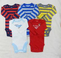 4pcs \lot orginal Carters  NB Baby Long Sleeve  Boy  bodysuit infant clothing set new 2014 spring 100%Cotton