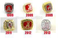 Replica Free shipping 1999 2009 2011 2012 2013 Alabama Crimson Tide National Championship Ring