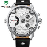 2014 New WEIDE Watch Men Luxury Brand Japan Quartz Movement 3ATM Waterproof Analog Leather Strap Watches Clock Men Fashion Style