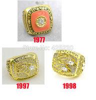 Replica NFL Free shipping 1977 1997 1998 Denver Broncos Super Bowl Championship Ring