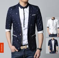 Multiple sizes M-3XL New Men's Casual Dot thin section Half Sleeve suits Men fashion Slim suit jacket