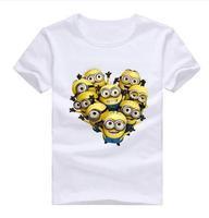 Cheap Brand 2014 Tshirt For Women Men Harajuku Cartoon Despicable Me Printed Girl Shirt Short Sleeve Tops Tee XXL XMN053-1 TB
