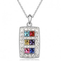 (Minimum order $ 15)White gold plated austrian crystal queen full rhinestone fashion pendant unique necklaces for women