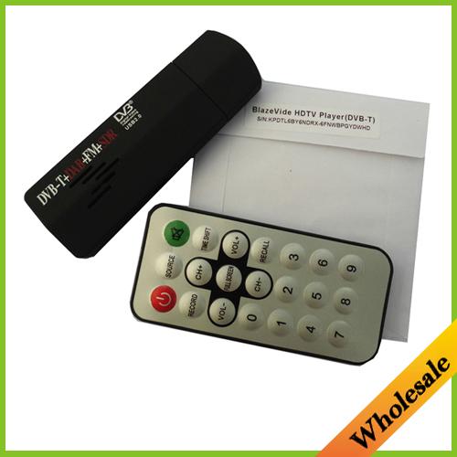New Digital USB2.0 Mini HD TV Stick FM+DAB DVB-T RTL2832U+R820T for SDR Tuner Receiver Recorder For Laptop PC,Dropshipping(China (Mainland))