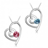 (Minimum order $ 15)  white gold plated heart women necklace pendant have mutual affinity fashion jewelry free shipping