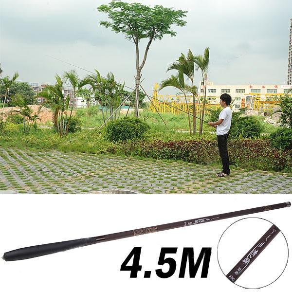 Super Hard Carbon Fiber Telescopic 7-Section 4.5m Fishing Pole Rock Fishing Rod Taiwan Fishing Pole Sport Fishing Rod(China (Mainland))