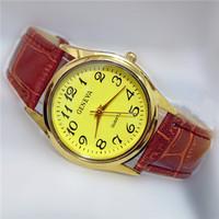 Free Shipping GENEVA European and American Retro New Listing 100% Quality Gold Plating Fashion Women Leather Quartz Watch