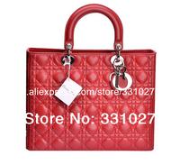 NEW Best Seller 100% Genuine Leather Women's Lambskin Handbags Violet Lady Bags Medium Tote Handbag Diorissimo Bag Many Colors
