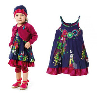 girls dress catimini girl dress 2014 summer French catimini child sleeveless dress PUMPKIN PATCH sundress shoulder-straps