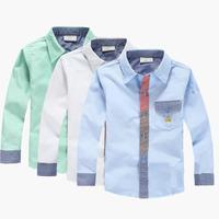 2014 new spring children's shirts, preppy boys cotton long-sleeved shirt, handsome shirt Spring Children
