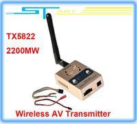 Free Shipping 2014 Boscam TX5822 2200mv 5.8G 32CH Wireless AV Transmitter FPV for DJI phantom Tarot drone Quadcopter Hexacopter