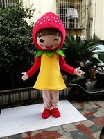 High quality Fruit STRAWBERRY MASCOT COSTUME Cartoon character ADULT mascot Costumes