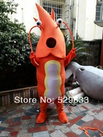 Adult Orange Shrimp Mascot Costumes Cartoon Costumes Advertising Costumes Free Shipping