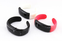 Free shipping bluetooth Bracelet watch answer call w/ Vibration + Mic + Speaker + Time + Cell phone anti-theft