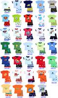 Free shipping kiDs Clothing baby Toddler Sleepwear Tops+Pants boyS pajama 6sets /lot WHOLESALE