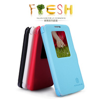 New Arrival Brand Nillkin Fresh Series S View Luxury PU Smart Leather Case for LG G2 mini(D618) With Window Open