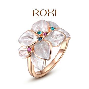 Оригинальное женское кольцо из бижутерного сплава (под розовое золото). Романтичное ...