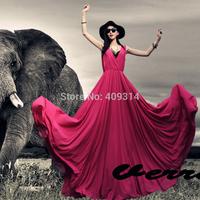 2014 New Summer UK Big Size Expansion Women V-neck Sleeveless Floor-length Chiffon Plus Size Ladies Party Maxi Long Dresses