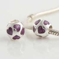 Lw078e diy  loose   love 925 pure silver bead pendant  thread