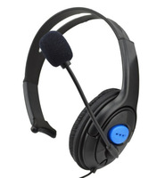 One-side Broadcaster Wired Gaming Headset with Mic for Sony Playstation 4 PS4 Free Shipping D0215